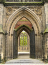 Gothic entrance Stock Photo