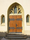 Gothic entrance to the church Royalty Free Stock Image