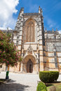 Gothic facade of Batalha monastery Royalty Free Stock Photography