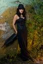 Gothic Girl outside Royalty Free Stock Image