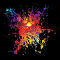 Gothic grunge rainbow splat Royalty Free Stock Images