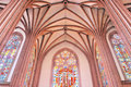 Gothic interior. Stock Photos