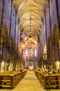 Gothic interior church- St.Lawrence church- Nuremberg- Germany Royalty Free Stock Photo