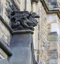 Gothic looking gargoyle Royalty Free Stock Photo