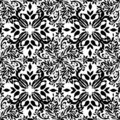 Gothic mono floral Stock Photos