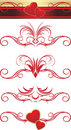 Gothic ornament with hearts. Patterns