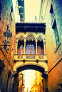 Gothic quarter in Barcelona Royalty Free Stock Photo