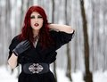 Gothic redhead woman portrait of a redheaded Royalty Free Stock Images