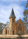 A Gothic Revival church made of local standstone and granite was opened in 1871 Royalty Free Stock Photo