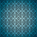 Gothic seamless blue wallpaper Stock Photography