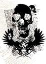 Gothic skull Royalty Free Stock Photo