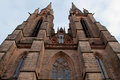 Gothic St. Elizabeths Church in Marburg. Horizontal Royalty Free Stock Photo