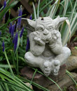 Gothic stone gargoyle Royalty Free Stock Photo
