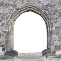 Gothic stone gate with space for your text Royalty Free Stock Photo