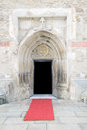 Gothic style cathedral entrance Royalty Free Stock Photo