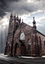 Gothic style church dark scene Royalty Free Stock Image