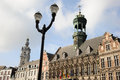 Gothic style City Hall, Mons, Belgium Royalty Free Stock Photo