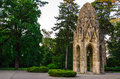 Gothic tower in sad janka krala bratislava slovakia the is the primary garden arbour and was previously a franciscan church Royalty Free Stock Photo