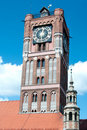 Gothic tower Torun Poland Royalty Free Stock Photo