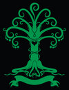 Gothic tree emblem Royalty Free Stock Images