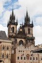 Gothic Tyn Church Stock Photo