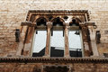 Gothic window a at trani in italy Royalty Free Stock Photography