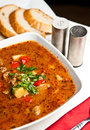 Goulash soup a bowl of spicy polish way of cooking a traditional hungarian cuisine Stock Photo