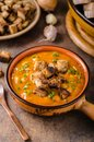 Goulash soup with croutons Royalty Free Stock Photo