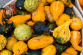 Gourds at a market stall Royalty Free Stock Image