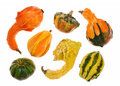 Gourds on white Royalty Free Stock Photography