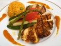 Gourmet Chicken Fajitas Royalty Free Stock Photography