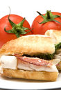 Gourmet chicken sandwich Royalty Free Stock Images