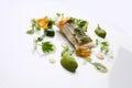 Gourmet food hake vegetables Royalty Free Stock Photo