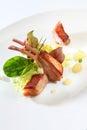 Gourmet food lamb ribs Royalty Free Stock Photo