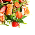 Gourmet food salad with salmon restaurant background Stock Photos