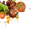 Gourmet food - steak meat Stock Photography