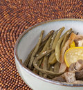 Gourmet Green Beans, Squash and Mushrooms Royalty Free Stock Images