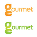 Gourmet logo perfect for any restaurant or buffet the g itself can be used as a symbol for the business on icons avatars etc even Stock Images
