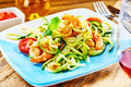 Gourmet low carbohydrate seafood appetizer Royalty Free Stock Photo