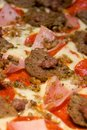 Gourmet meat lover's pizza Royalty Free Stock Images