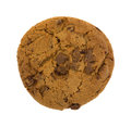 Gourmet milk chocolate chip cookie on white background Royalty Free Stock Photo