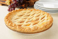 Gourmet peach pie Stock Image