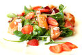 Gourmet salad food restaurant background Stock Photo