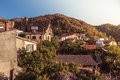 Gourri village. A village in the Nicosia District of Cyprus. Col Royalty Free Stock Photo