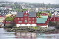 Goverment of faroe islands tinganes in torshavn is seat a part the faroese government Royalty Free Stock Photo