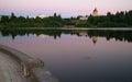 Government Building Capital Lake Olympia Washington Sunset Dusk Royalty Free Stock Photo