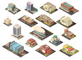 Government Building Isometric Set
