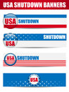 Government shutdown usa closed banners vector Stock Image