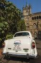 Governmental Ambassador car outside Victoria Terminus Royalty Free Stock Photo