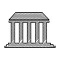 Governmental building isolated icon